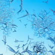 Frosty pattern on glass — Stock Photo