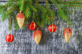Holidays  New Year's and Christmas fir-tree toys — Stockfoto