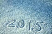 Nový rok a vánoce pozadí ze sněhu — Stock fotografie