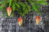 Holidays  New Year's and Christmas fir-tree toys — Photo