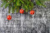 święta bożego narodzenia i nowego roku zabawki drzewo jodły — Zdjęcie stockowe