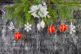 Holiday  New Year's and Christmas fir tree  decoration — Stock Photo