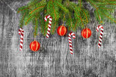 Holiday  New Year's and Christmas fir tree toys — Stock Photo