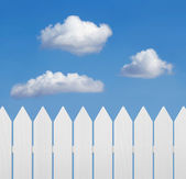 Wooden fence against the sky — Stock Photo