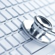 Stethoscope on a keyboard — Stock Photo #12113494