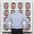 Choosing face expression — Stock Photo