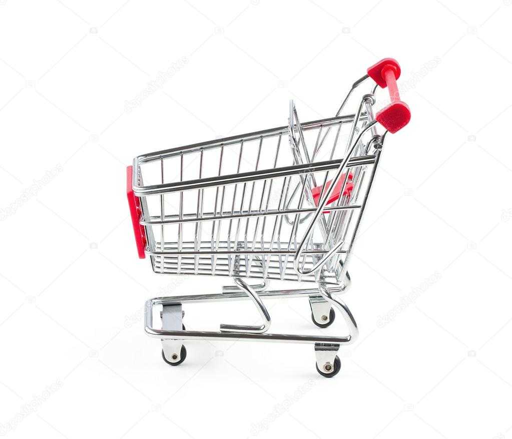 Empty shopping cart isolated on white background — Stock Photo #12873810