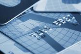 Close up van creditcards — Stockfoto