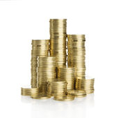 Stack of gold coins — Stockfoto