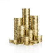 Stapel von goldmünzen — Stockfoto