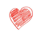 Hand drawn heart shape — Foto Stock