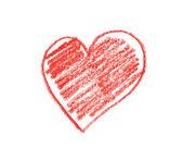 Hand drawn heart shape — Stock Photo