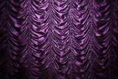 Purple silk curtain — Stock Photo