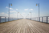 Empty wooden pier — Stock Photo