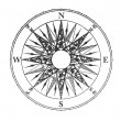 Stock Photo: Wind rose on white