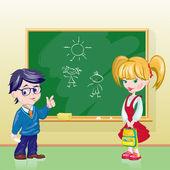 Children in the classroom — Stock Vector