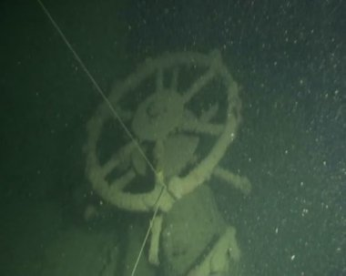Ship wreck diving underwater video — Stock Video