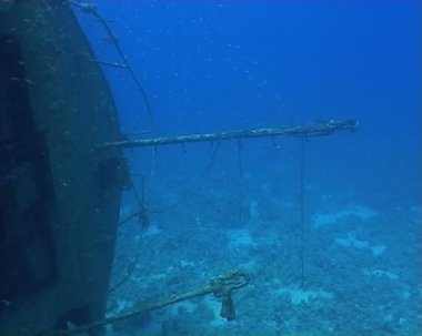 Ship wreck underwater diving video — Stock Video