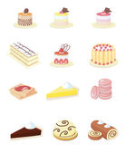 Small Vector Icons for French Pastry — Stock Vector