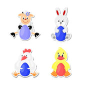 Easter animals — Stock Vector