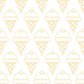 Ice cream pattern — Stock Vector
