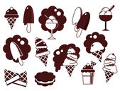 Éléments de conception de crème glacée — Vecteur