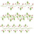 Holly ornaments — Stock Vector #37131435