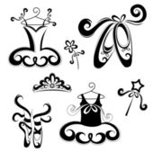 Ballet accessories — Stock Vector