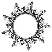 Circle decorative frame — Stock Vector