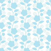 Blue flower pattern — Stock Vector