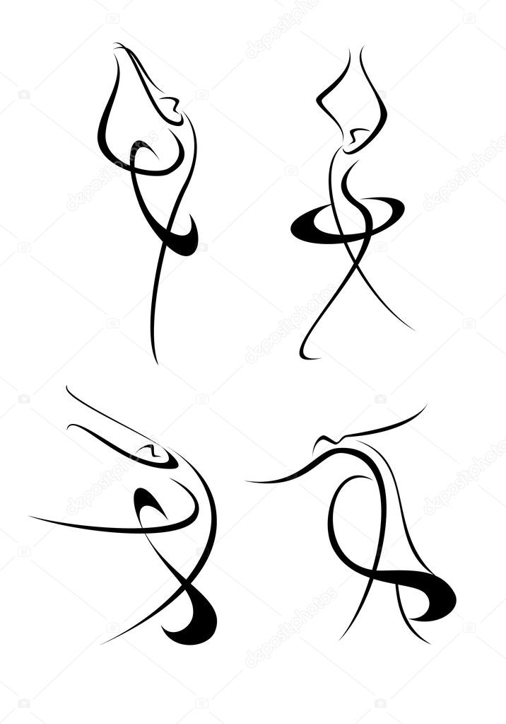 Search further Clipart Of Musical Instruments Black And White 15344 additionally Royalty Free Vector Logo Of A Tribal Devil Mask Outline By Lal Perera 12644 moreover Aerial Dancers 18328650 in addition Pencil Outline Wall Sticker Cartoon Wall Art. on dance clip art black and white