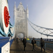 Commuters on Tower Bridge — Stock Photo