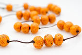 Original female beads from polymeric hand-worked clay — Stock Photo