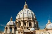 Koepel van de st. peter's Basiliek, Vaticaanstad, Italië — Stockfoto