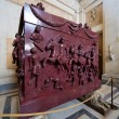 Porphyry sarcophagus of the family of Emperor Constantine the Gr — Stock Photo