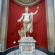Ancient Roman statue of Emperor Claudius in Vatican Museum — Stock Photo