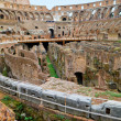 Inside of Colosseum in Rome - Stock Photo