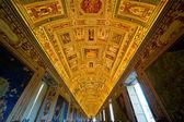 потолок галереи географические карты в ватикане муза — Стоковое фото
