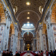 Stock Photo: Interior of St. Peters Basilica, Rome