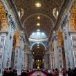 Interior of St. Peters Basilica, Rome — Stock Photo #13869260