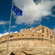 Foto de Stock  : EuropeUnion flag in Castel Sant'Angelo, Rome
