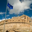 Royalty-Free Stock Photo: European Union flag in Castel Sant&#039;Angelo, Rome