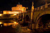 Sant'Angelo castel and bridge, Rome — Stock Photo