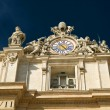 Clock on the top of St. Peter's Basilica in Vatican, Rome — Stock Photo