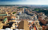 View of Rome and St Peter's Square from dome of St. Peter`s Basilica, Rome — Zdjęcie stockowe
