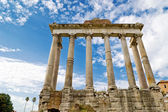 Temple of Saturn in the Roman Forum in Rome, Italy — Stock Photo