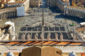 View of St Peter's Square from dome of St. Peter`s Basilica, Rome — Stock Photo