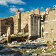 Foto Stock: Forum of Augustus with temple of Mars Ultor in Rome