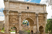Arch of Emperor Septimius Severus in the Roman Forum, Rome — Foto de Stock