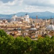 View of Rome cityscape - Stock Photo